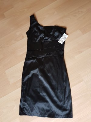 Made in Italy One Shoulder Dress black