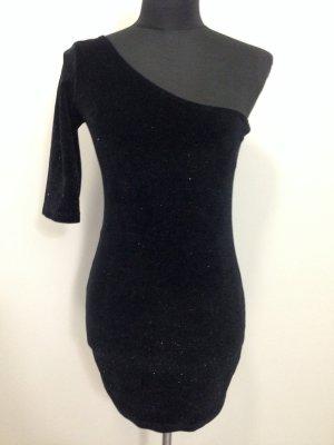 One shoulder Kleid aus Samt mit Glitzer von Zara, Gr. M (38)