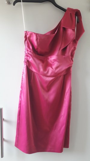 One Shoulder Kleid aus Satin in pink - Glamour à la Marilyn Monroe