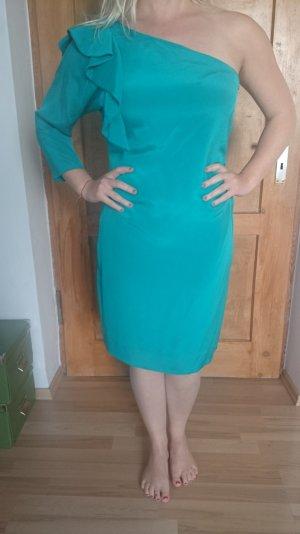 One Shoulder Kleid aus Seide, Diane von Fürstenberg in türkisgrün, Größe 12 (40)