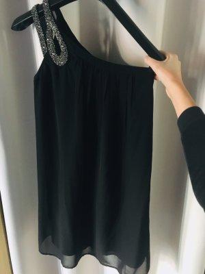 Vero Moda One Shoulder Dress black-silver-colored