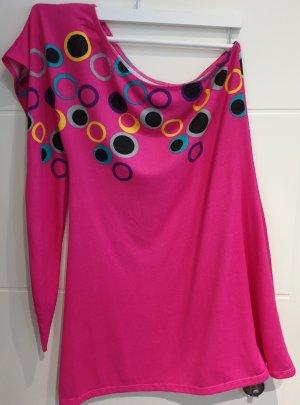 Vestido de un hombro rosa