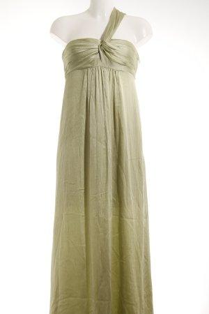 One-Shoulder-Kleid blassgrün Schimmer-Optik