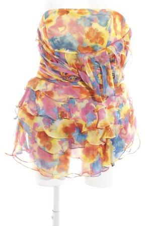 One-Shoulder-Kleid Blumenmuster Elegant