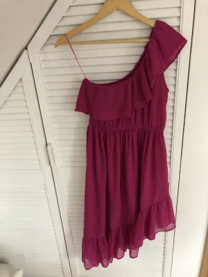 Nakd One Shoulder Dress raspberry-red