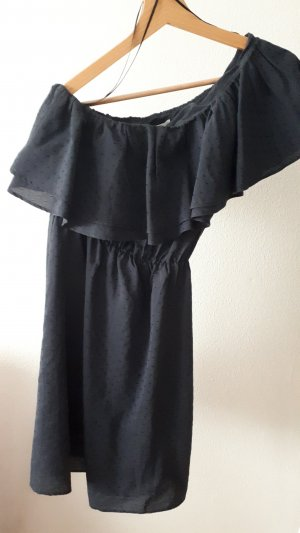H&M One Shoulder Dress dark blue
