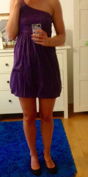 One-Shoulder-Kleid elegant lila von Bershka, Größe: S