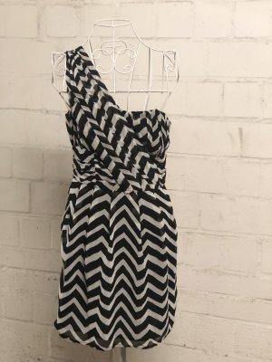 H&M Abito monospalla bianco-nero
