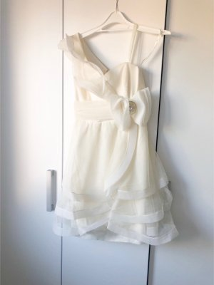 One Shoulder Dress white-oatmeal