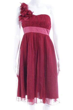 One Shoulder Dress carmine-dark red elegant