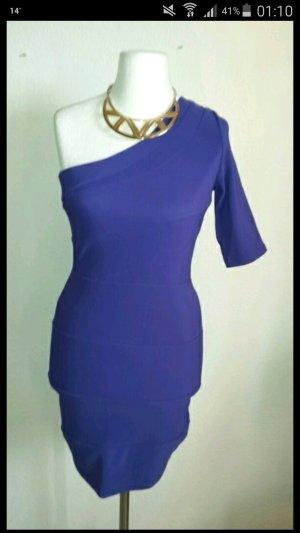 One Shoulder Kleid Lila
