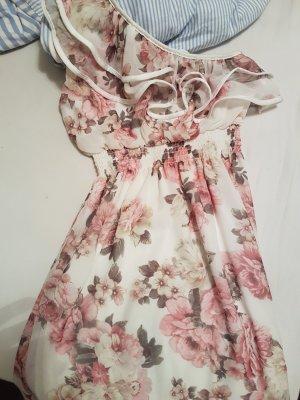 no name Vestido de un hombro blanco-rosa empolvado