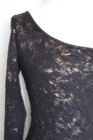 One Shoulder Kleid mit metallic