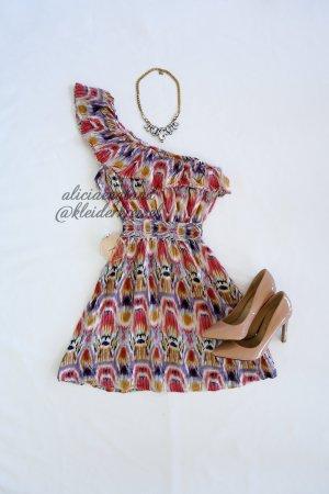 One Shoulder Kleid mit Muster