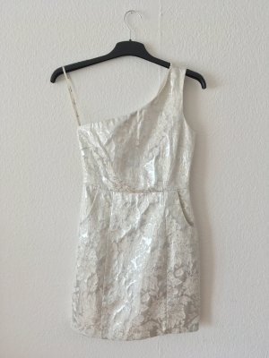 Forever 21 One Shoulder Dress white-silver-colored