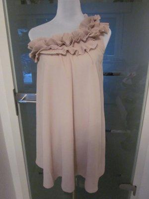 One Shoulder Kleid Nude Rose Gr 34/36