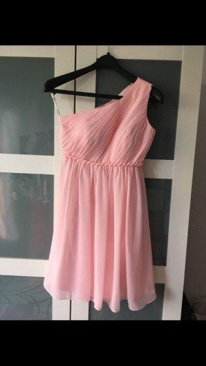 One Shoulder Kleid Rosa