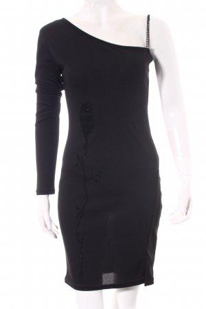 One-Shoulder-Kleid schwarz Elegant