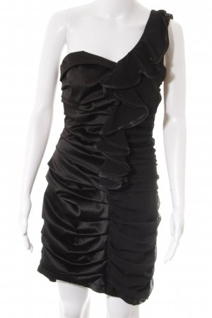 One-Shoulder-Kleid schwarz Party-Look