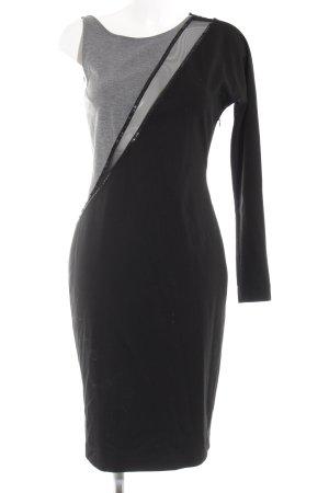 One Shoulder Dress black-silver-colored elegant