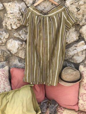 Manila Grace Vestido de un hombro multicolor tejido mezclado