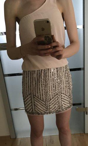 One Shoulder Partykleid mit Paillettenrock von Zara in xs