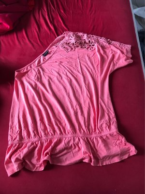 Bodyflirt Eénschoudershirt roze