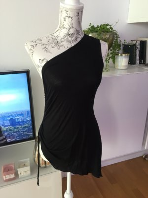 One shoulder top schwarz Gr S