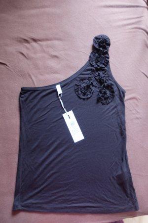 One Shoulder Top schwarz Vero Moda XL mit Rüschen