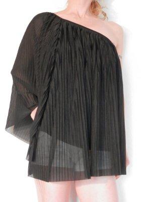 One Shoulder Tunika Gothic Bluse Carmen Dress Blogger Moss BoHo Style
