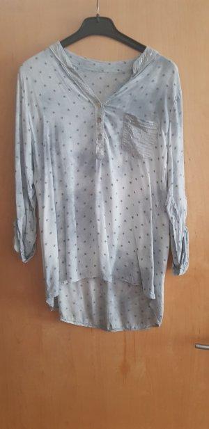 Blusa ancha blanco-gris