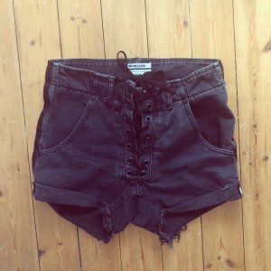 One Teaspoon ASOS Denim Hot Pants Lace Up High Waist Festival Free People