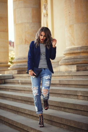 One teaspoon Boyfriendjeans blau Boyfriend-Look