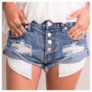 One Teaspoon Denim Hit Pants Jeans Festival Fransen Asos Free People Destroyed