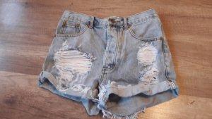 One Teaspoon Highwaist Jeansshorts Shorts Denim Ripped Off Destroyed 25