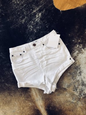 One Teaspoon Highwaist Short white