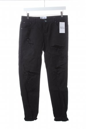 One teaspoon Jeans schwarz Destroy-Optik