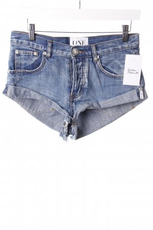 One Teaspoon Jeansshorts Blau