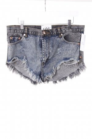 One Teaspoon Jeansshorts blau-schwarz