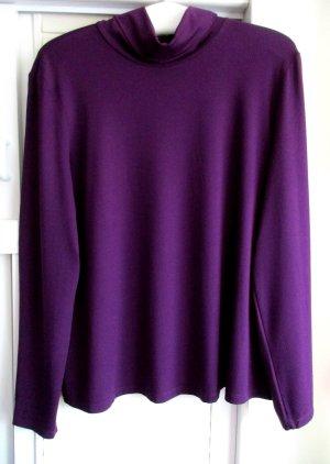 One Touch Pull-over à col roulé violet foncé viscose
