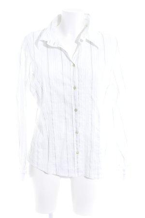 One Touch Hemd-Bluse weiß Streifenmuster Business-Look