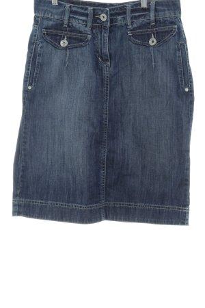 One Touch Jupe en jeans bleu style décontracté