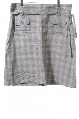 One Touch Leinenrock abstraktes Muster Casual-Look