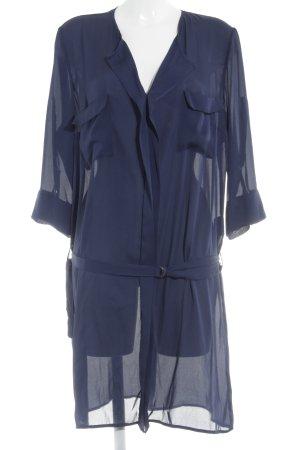 One Touch Blusa larga azul acero Poliéster