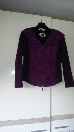 Veste chemise violet coton