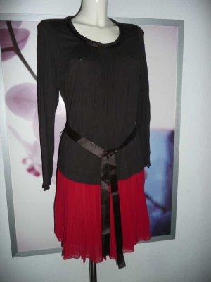 One Touche Basic softes Viscose Longsleeve Langarm Shirt m Gürtel braun 38
