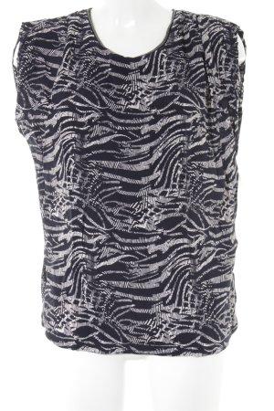 One Two Luxzuz Blusa crema-nero motivo astratto stile casual