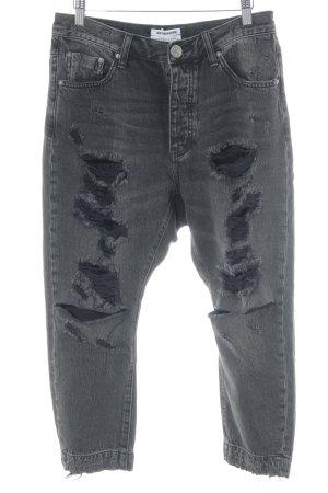 One x Oneteaspoon Jeans a 7/8 nero stile jeans