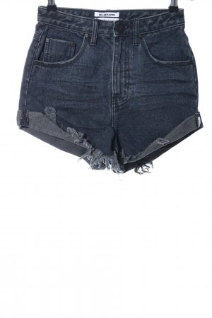 One x Oneteaspoon Jeansshorts dunkelblau Casual-Look