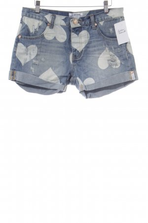 One x Oneteaspoon Latzshorts Herzmuster Casual-Look